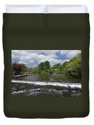 The Riverside And Weir - Bakewell Duvet Cover