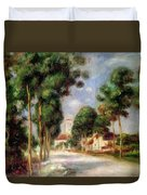 The Road To Essoyes Duvet Cover by Pierre Auguste Renoir