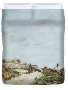 The Road To The Citadel At Villefranche Duvet Cover