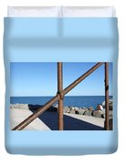 The Rust And The Sea Duvet Cover