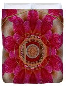 The Sacred Orchid Mandala Duvet Cover