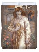 The Salutation  Duvet Cover by Dante Charles Gabriel Rossetti
