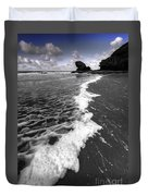 The Sea And The Foam Duvet Cover