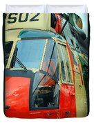 The Sea King Helicopter Used Duvet Cover by Luc De Jaeger