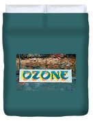 The Sign Of The Ozone Duvet Cover