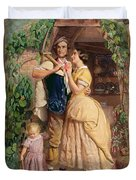 The Sinews Of Old England Duvet Cover by George Elgar Hicks