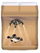 The Sky Crane Maneuver Duvet Cover