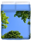 The Sky Through Trees Duvet Cover
