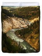 The Snaking Yellowstone Duvet Cover