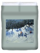 The Snowman  Duvet Cover by Andrew Macara