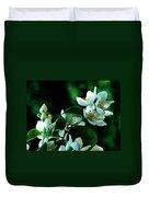 The Soft White Blossom  Duvet Cover