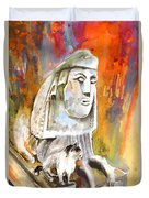 The Sphinx Of Petraion Duvet Cover