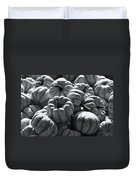 The Squash Harvest In Black And White Duvet Cover