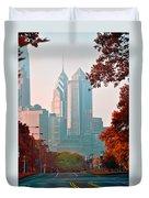 The Streets Of Philadelphia Duvet Cover
