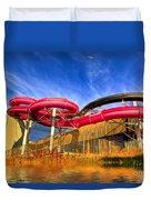The Sun Centre Duvet Cover by Adrian Evans