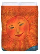 The Sun God Detail Of Red Sky At Night Duvet Cover