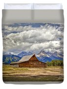 The T. A. Moulton Barn In Grand Teton National Park Duvet Cover
