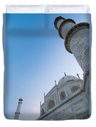 The Taj Mahal At Dusk, Low Angle View Duvet Cover