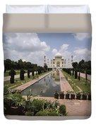 The Taj Mahal In Agra, India Duvet Cover