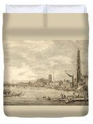 The Thames Looking Towards Westminster From Near York Water Gate  Duvet Cover by Giovanni Antonio Canaletto