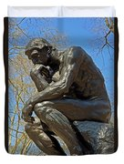 The Thinker By Rodin Duvet Cover