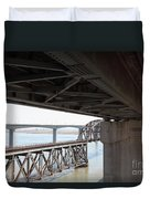 The Three Benicia-martinez Bridges In California - 5d18844 Duvet Cover
