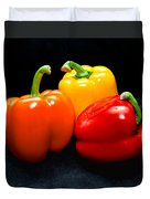The Three Peppers Duvet Cover