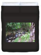 The Trail By The Creek Duvet Cover
