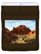 The Trail Through The Valley Duvet Cover