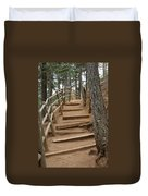 The Trail To The Top Duvet Cover