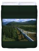 The Trans-alaska Pipeline Runs Duvet Cover