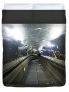 The Travelator At The Underwater World In Sentosa In Singapore Duvet Cover
