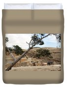 The Tree In Desert Duvet Cover