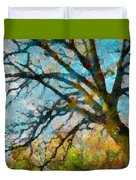 The Tree Of Many Colours  Duvet Cover