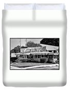The Trolley Car Diner - Chestnut Hill Philadelphia Duvet Cover