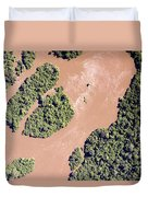 The Turbid Ituri River Channels Its Way Duvet Cover