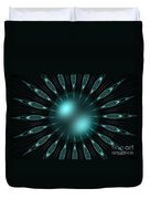 The Turquoise Sun Duvet Cover