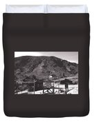 The Upper Village Of Calico Ghost Town Duvet Cover