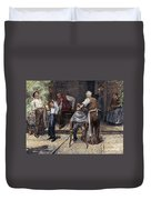 The Village Barber, 1883 Duvet Cover