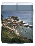 The Village Of Vernazaa On Italys Duvet Cover