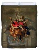 The Vision Of St. Paul Duvet Cover