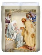 The Visit Of The Wise Men Duvet Cover