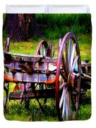 The Wagon At El Prado Duvet Cover