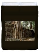 The Wall At Ta Prohm Duvet Cover