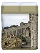 The Wall In Dubrovnik Duvet Cover