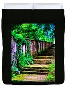 The Wall Of Gravestones Duvet Cover