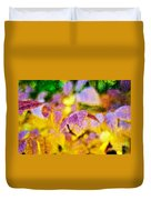 The Warmth Of Autumn Glow Abstract Duvet Cover