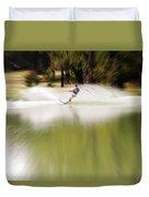 The Water Skier 1 Duvet Cover