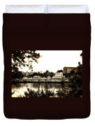 The Waterworks In Sepia Duvet Cover