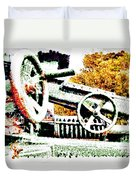 The Wheels Of War Keep On Turning Duvet Cover